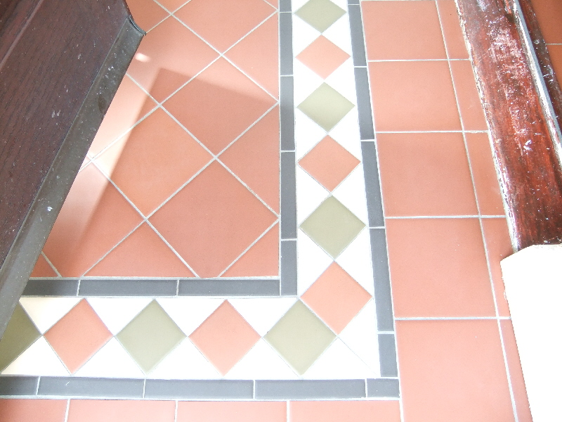 Reproduction Victorian Tiled Floor After Cleaning
