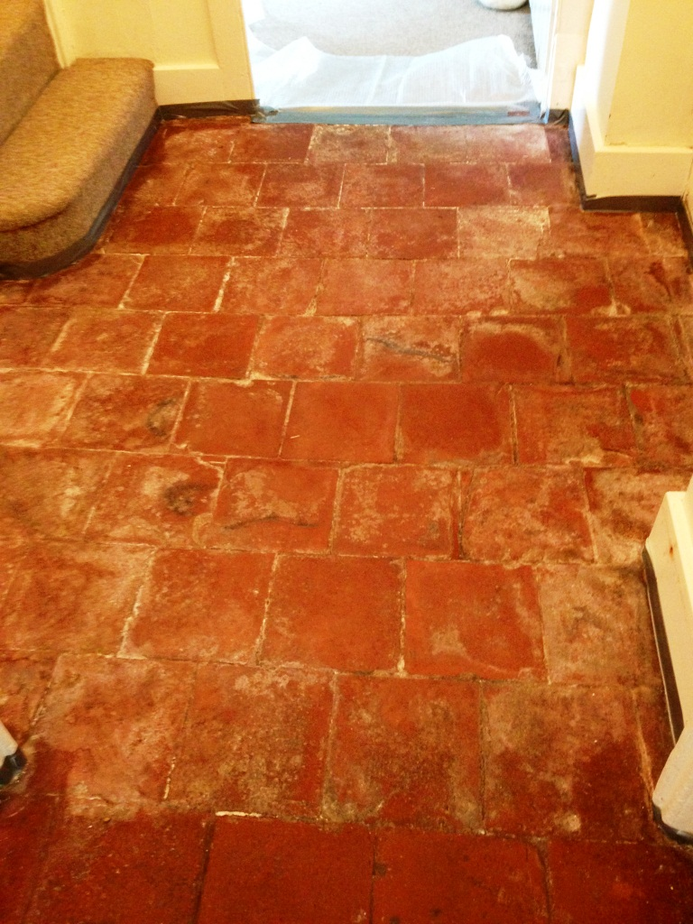 Quarry Tiles Floor Before