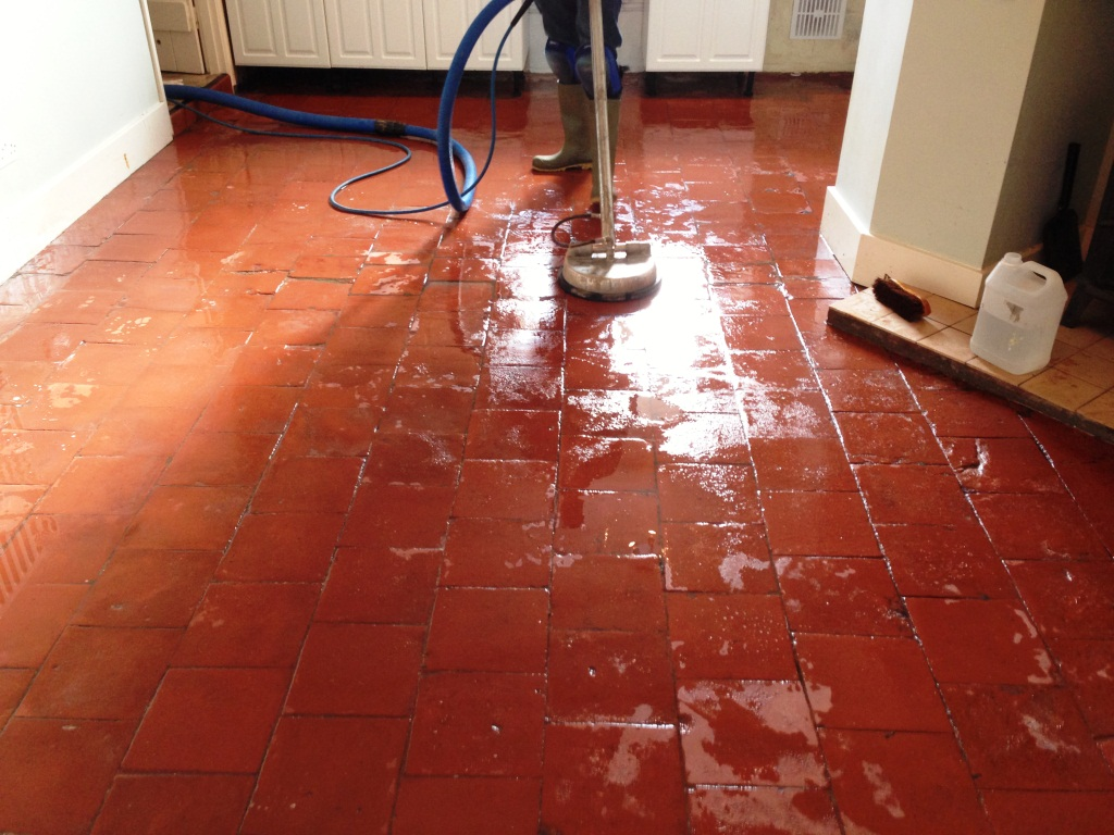 Quarry Tiles Floor During