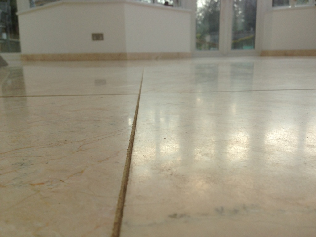 Scratched Crema Marble Tiles