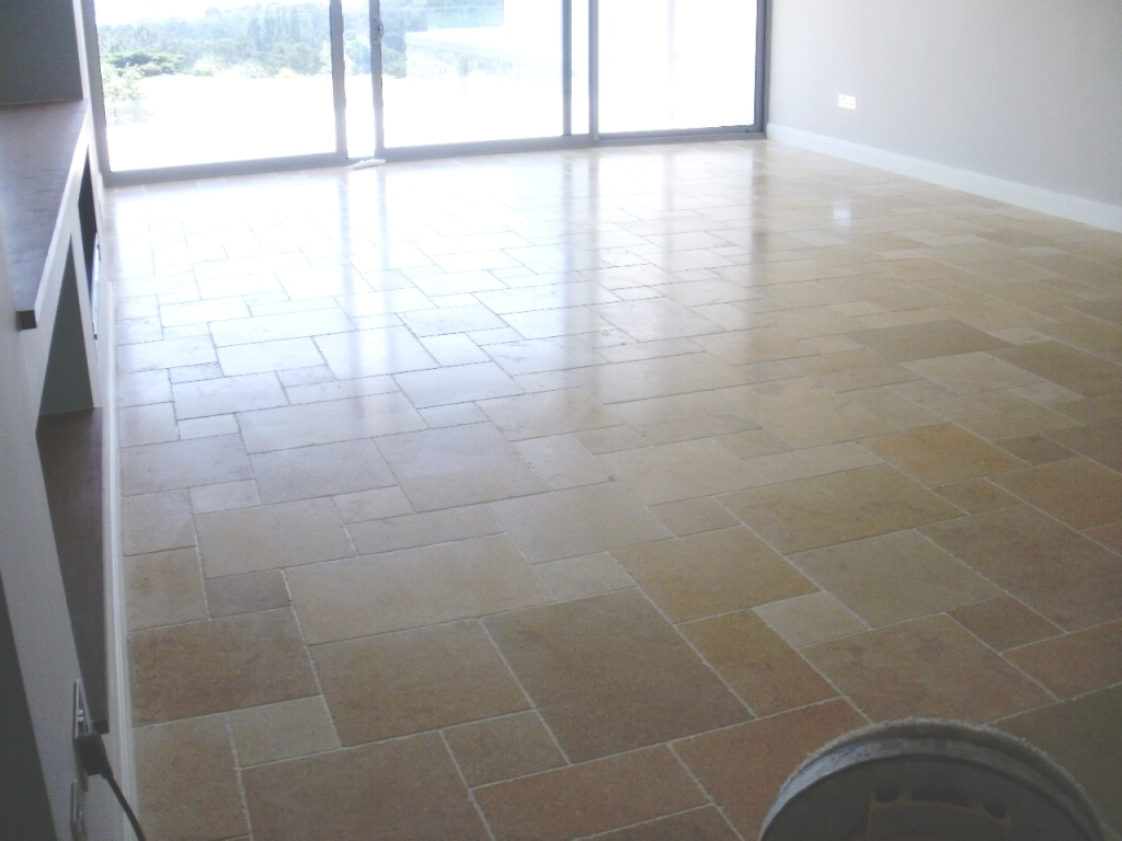 Limestone Tiled Floor Canford Cliffs After
