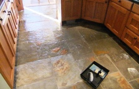 Cleaning and Sealing Slate Tiled Floor