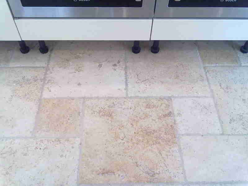 Travertine Floor - After Cleaning