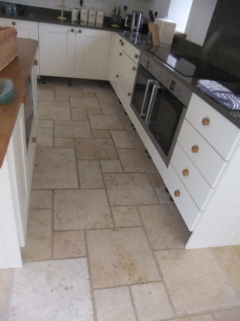 Travertine Floor - Prior to Cleaning