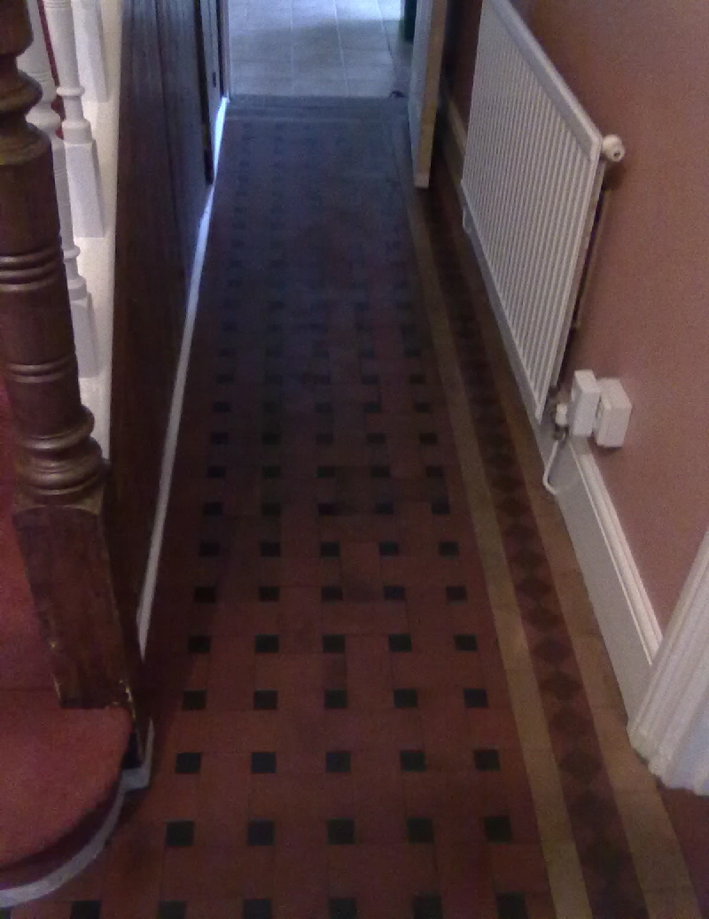 Victorian Tiled Floor before Cleaning