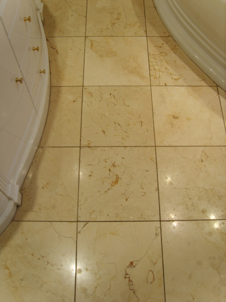 Marble EnSuite Floor Before