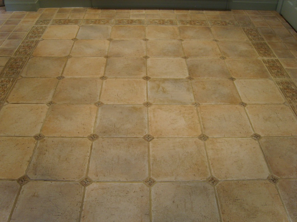 Porcelain Stone effect Tiles Before