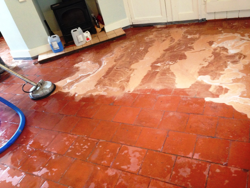 Restoration Quarry Tiled Floors Cleaning And Sealing