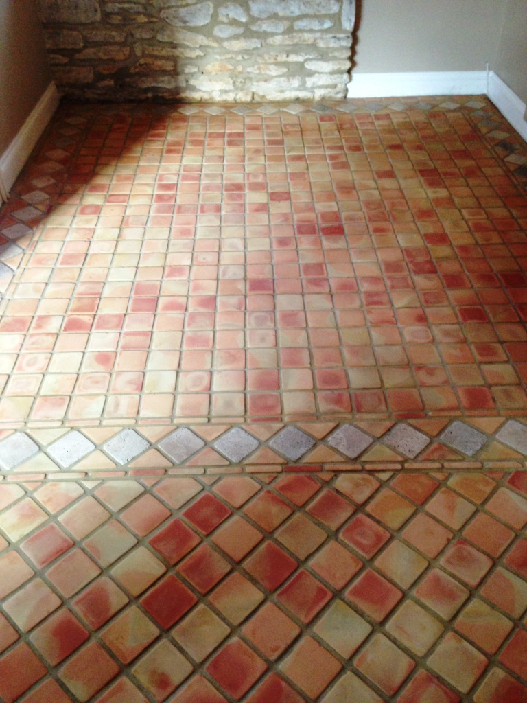 Terracotta Tile After Cleaning