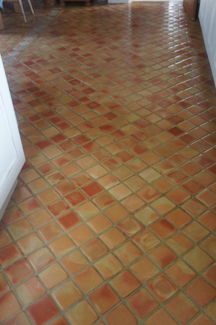Terracotta Tile After Sealing
