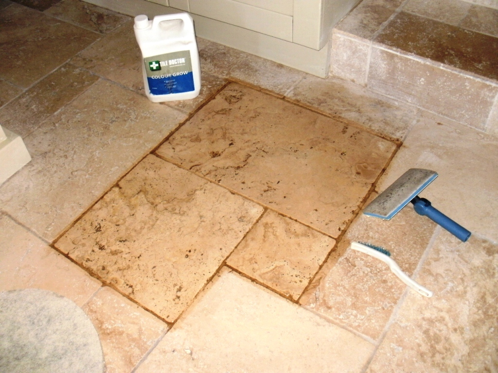 Tileprof dorset tile doctor tumbled marble in dewlish during sealing colour grow is a colour enhancing sealer dailygadgetfo Images
