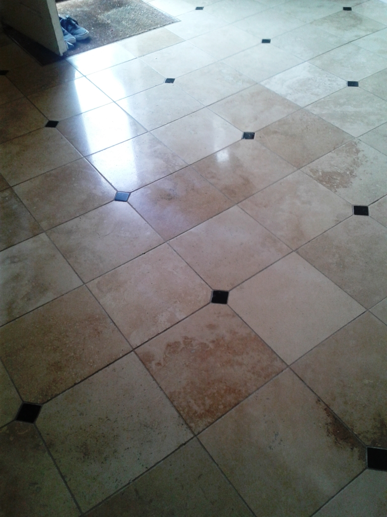 Travertine Tiled Floor Sandbanks After Cleaning