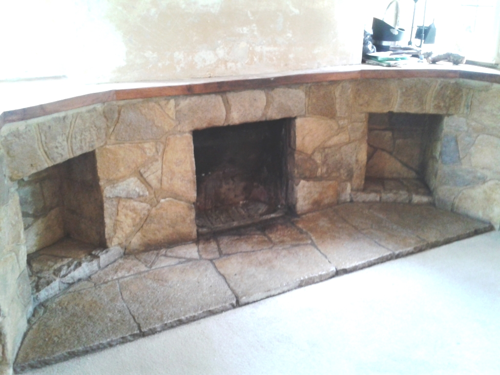 Canford Cliffs Stone Fireplace After Cleaning