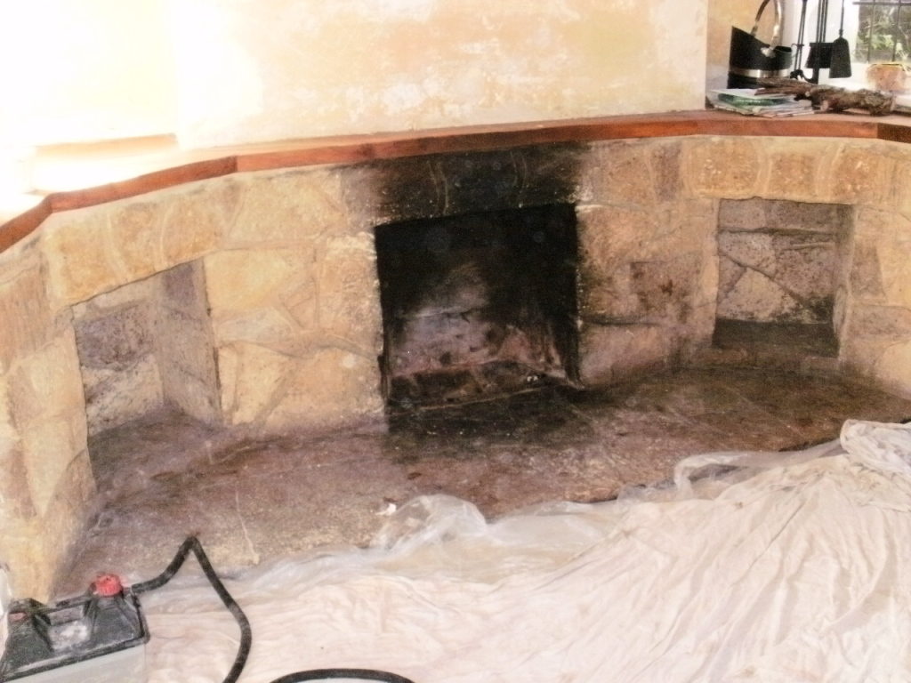 Removing Soot From A Stone Fireplace Tile Cleaners Tile Cleaning