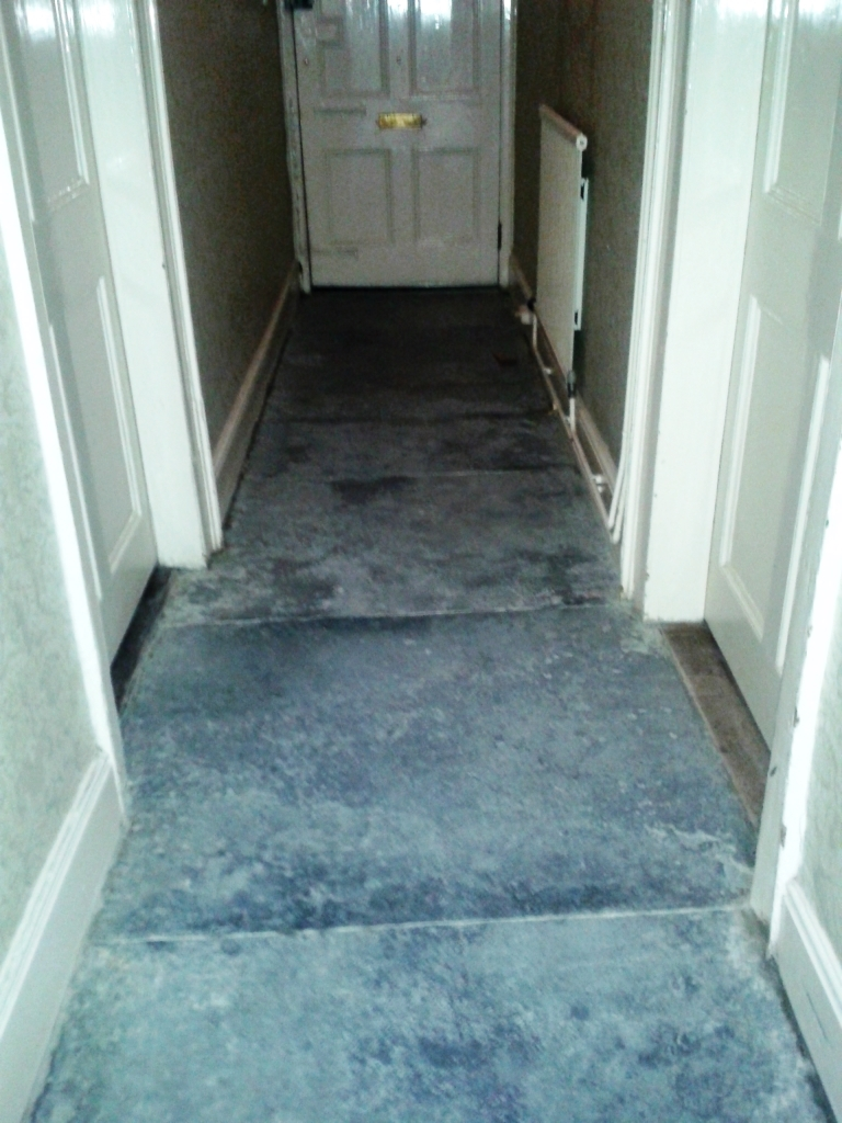 Black Limestone Sherbourne Before Cleaning