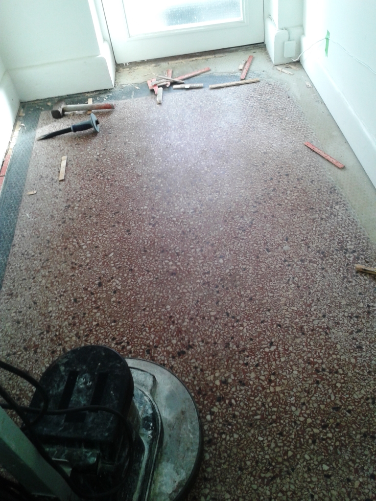 Terrazzo Tiled Floor Before Cleaning in Southbourne