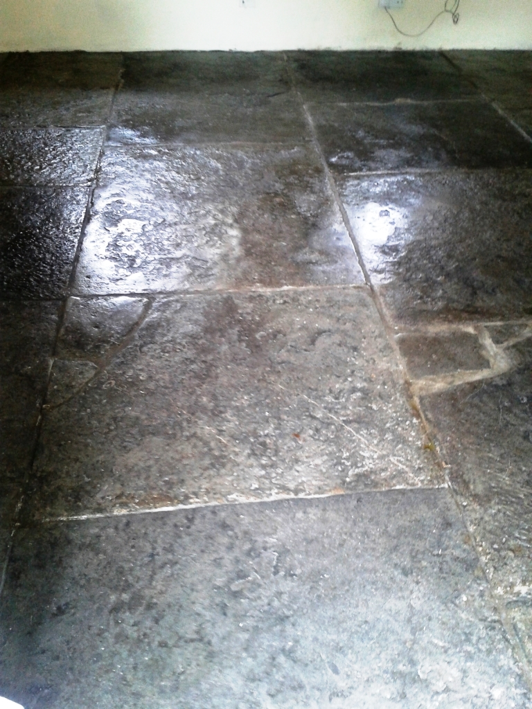 Portland Limestone Tiled Floor After Cleaning Weymouth