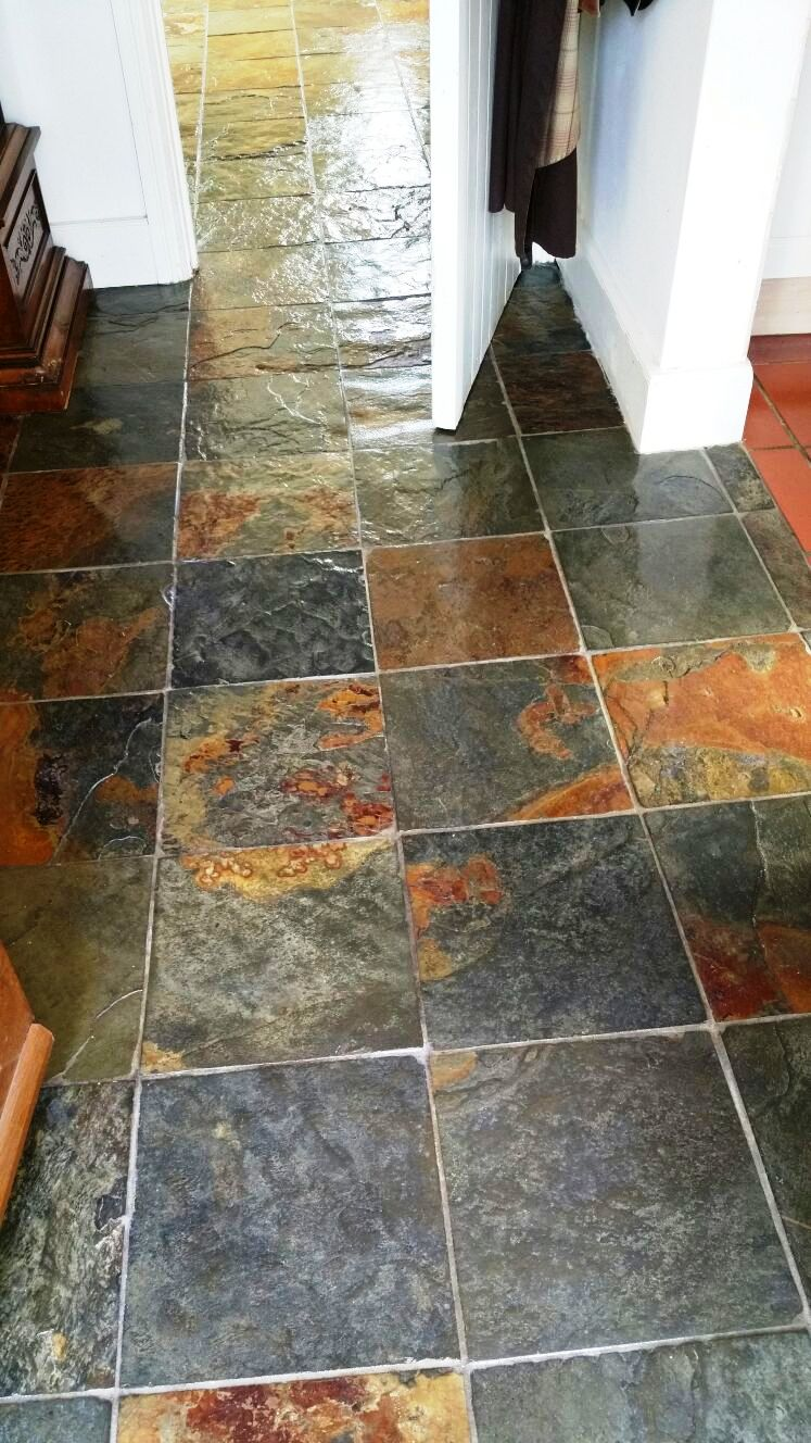 Restoring The Appearance Of Chinese Slate Floor In Dorset Stone