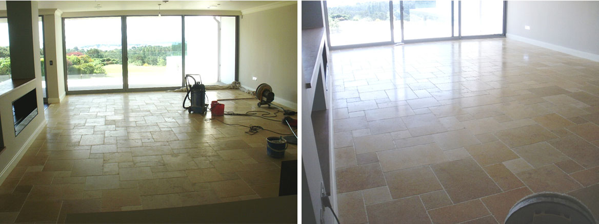 Sealing Limestone Floor Tiles at Canford Cliffs