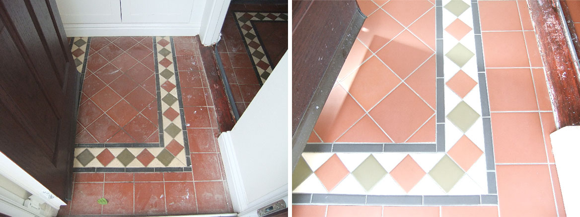 Reproduction Victorian Tiled Floor Cleaned and Sealed
