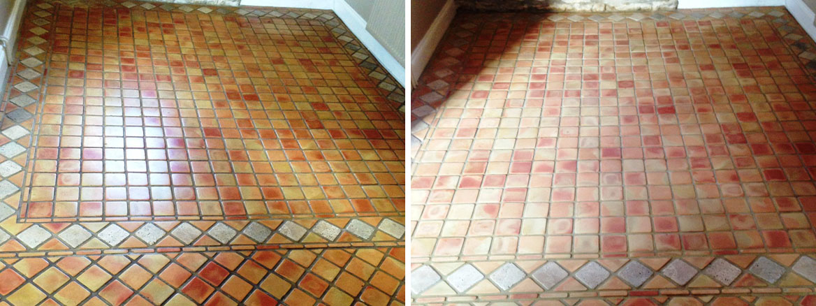 Terracotta Tile and Grout Cleaned Following Freezer Leak