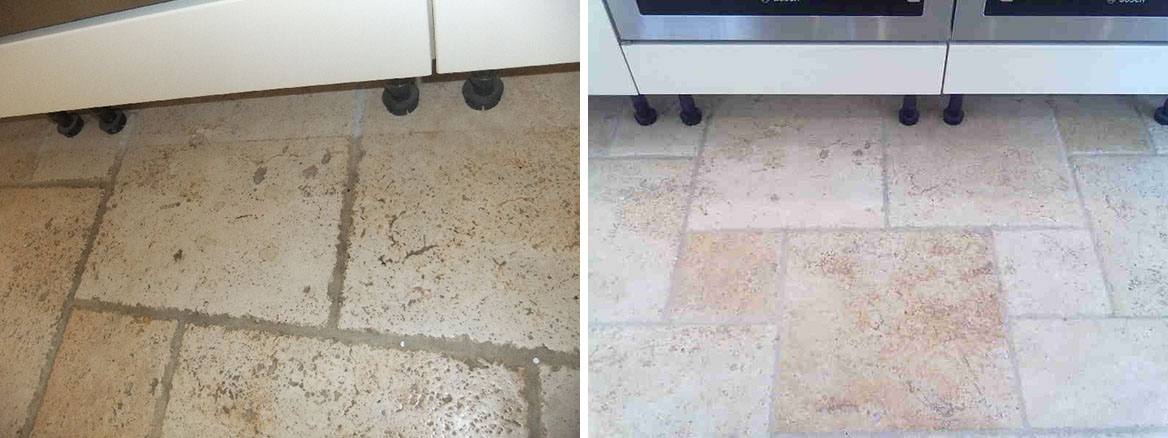 Cleaning an antiqued style Travertine tiled floor